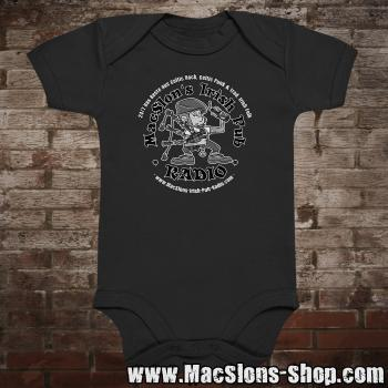 "MacSlon's ""24/7 Logo"" Baby-Body (black)"