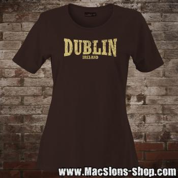 "Dublin ""Ireland"" Girly-Shirt (brown/beige)"