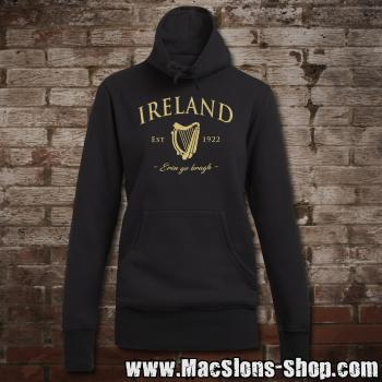 "Ireland ""Erin Go Bragh"" Girly Sweater Turtleneck (black/beige)"