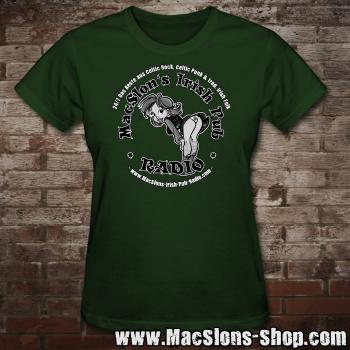 "MacSlon's ""Irish Girl Logo"" Girly-Shirt (green)"