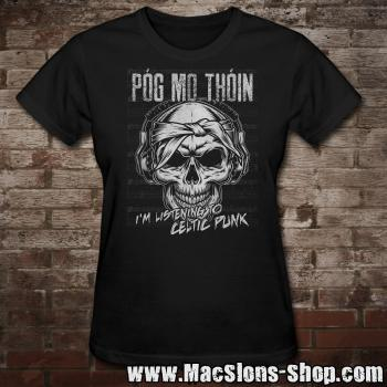 "Póg Mo Thóin ""Celtic Punk"" Girly-Shirt (black)"
