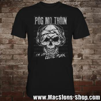 "Póg Mo Thóin ""Celtic Punk"" T-Shirt (black)"