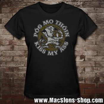 "Póg Mo Thóin ""Kiss My Ass"" Girly-Shirt (black)"