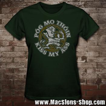 "Póg Mo Thóin ""Kiss My Ass"" Girly-Shirt (green)"