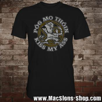 "Póg Mo Thóin ""Kiss My Ass"" T-Shirt (black)"