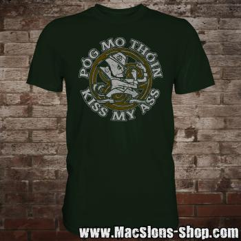 "Póg Mo Thóin ""Kiss My Ass"" T-Shirt (green)"