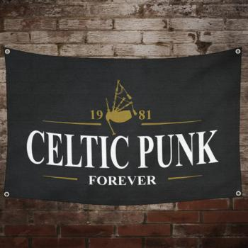 "MacSlon's ""Celtic Punk - Forever"" Fahne / Flag"