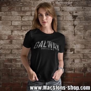 "Cities Of Ireland ""Galway"" Girly-Shirt (black)"