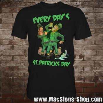 "MacSlon's ""Every Day's St. Patricks Day"" T-Shirt (black)"