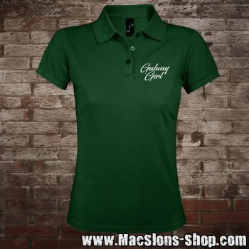 "Galway Girl ""Script"" Girly-Polo-Shirt (green-prime)"