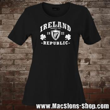 "Ireland ""Republic"" Girly-Shirt (black/white)"