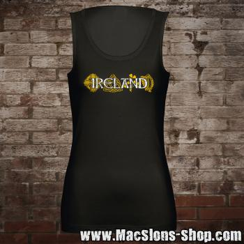 "Ireland ""Symbols"" Girl-Tank-Top (black)"