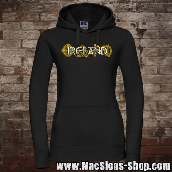 "Ireland ""Symbols"" Girly-Hoodie (black)"