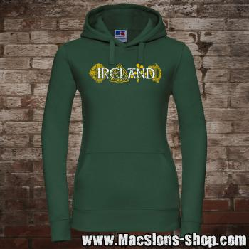 "Ireland ""Symbols"" Girly-Hoodie (green)"