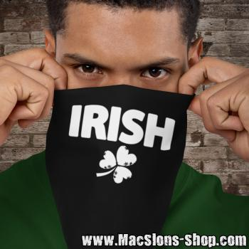 """Irish & Shamrock"" Bandana (black/white)"