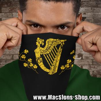 """Irish Harp"" Bandana (black)"