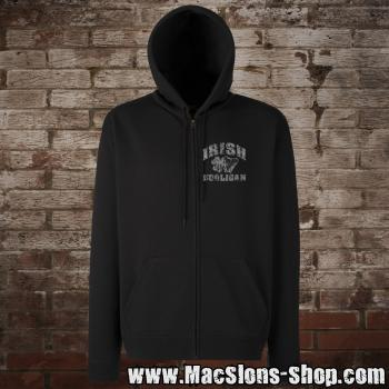 """Irish Hooligan"" Zip-Jacke (black)"
