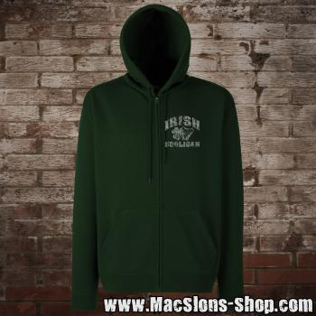 """Irish Hooligan"" Zip-Jacke (green)"