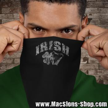"Irish ""Shamrock & Harp"" Bandana (black)"