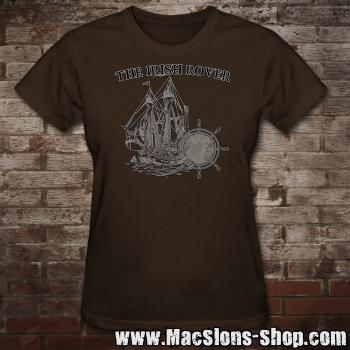 "MacSlon's ""Irish Rover"" Girly-Shirt (brown)"