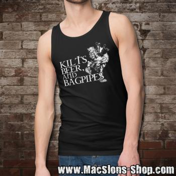 Kilts, Beer & Bagpipes Tank-Top (black)