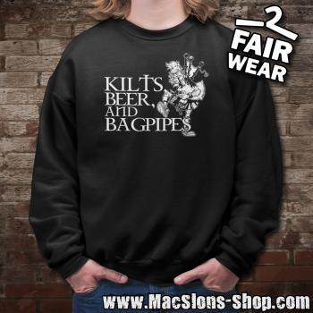 Kilts, Beer & Bagpipes Sweatshirt (black)