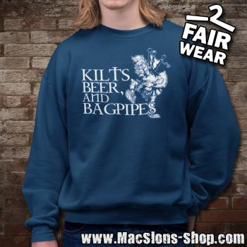 Kilts, Beer & Bagpipes Sweatshirt (navy)