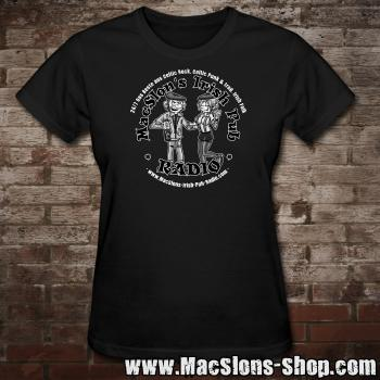 "MacSlon's ""Couple Logo"" Girly-Shirt (black)"