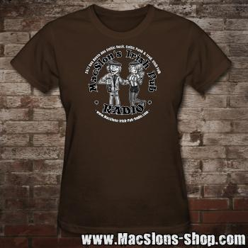 "MacSlon's ""Couple Logo"" Girly-Shirt (brown)"