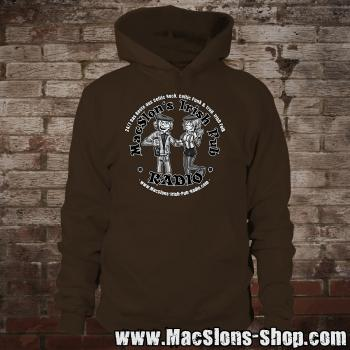 "MacSlon's ""Couple Logo"" Hoodie (brown)"