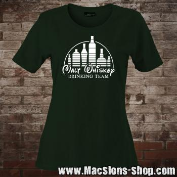 "Malt Whiskey ""Drinking Team"" Girly-Shirt (green)"