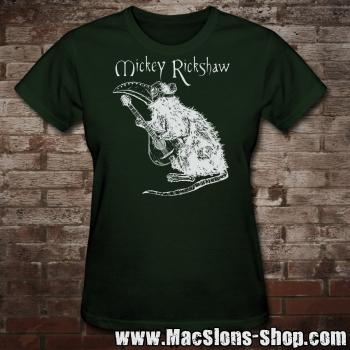 "Mickey Rickshaw ""Pandemic Rat"" Girly-Shirt (green)"