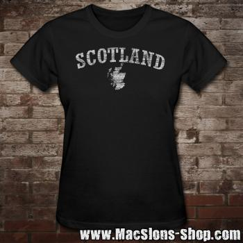 "Scotland ""Landscape"" Girly-Shirt (black)"