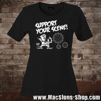 """Support Your Scene"" Girly-Shirt (black)"