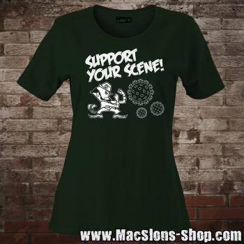 """Support Your Scene"" Girly-Shirt (green)"