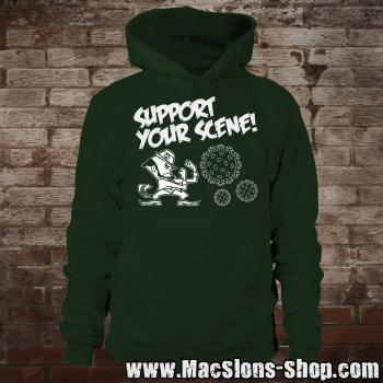 """Support Your Scene"" Hoodie (green)"
