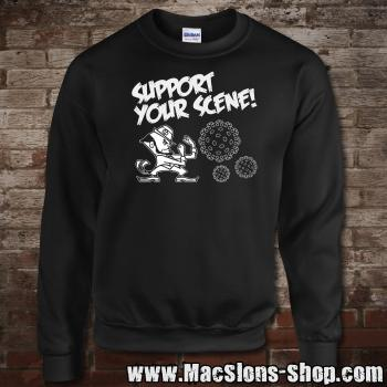 """Support Your Scene"" Sweatshirt (black)"