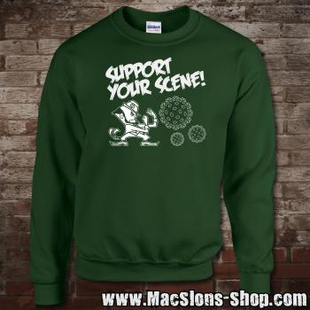 """Support Your Scene"" Sweatshirt (green)"