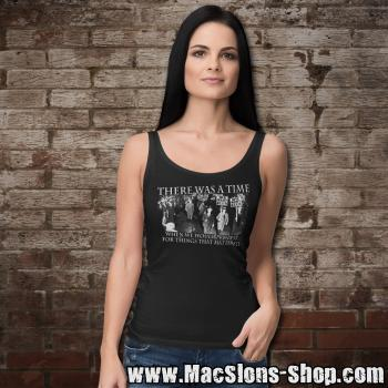 """There Was A Time When We Would Protest For Things That Mattered"" Girly-Tank-Top (black)"