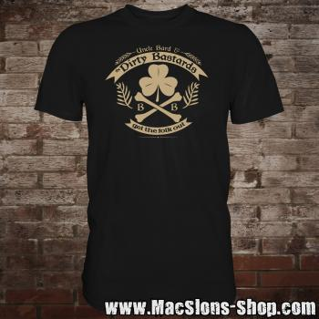 "Uncle Bard & the Dirty Bastards ""Get The Folk Out"" T-Shirt (black)"