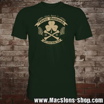 "Uncle Bard & the Dirty Bastards ""Get The Folk Out"" T-Shirt (green)"