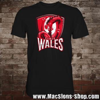 "Wales ""Dragon I"" T-Shirt (black)"