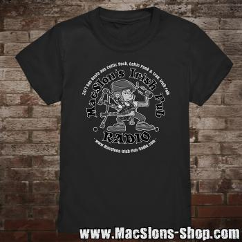 "MacSlon's ""24/7 Logo"" Kids-TShirt (black)"