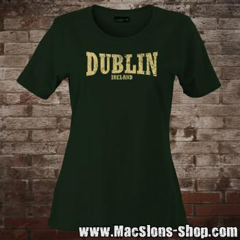 "Dublin ""Ireland"" Girly-Shirt (green/beige)"