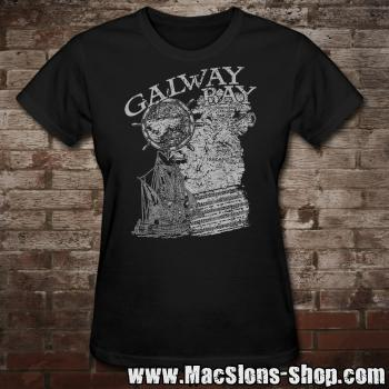 "MacSlon's ""Galway Bay"" Girly-Shirt (black)"