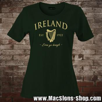 "Ireland ""Erin Go Bragh"" Girly-Shirt (green/beige)"