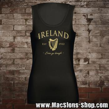 "Ireland ""Erin Go Bragh"" Girl-Tank-Top (black/beige)"
