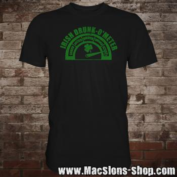 Irish Drunk-O'Meter T-Shirt (black)