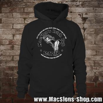 "MacSlon's ""Irish Girl Logo"" Hoodie (black)"