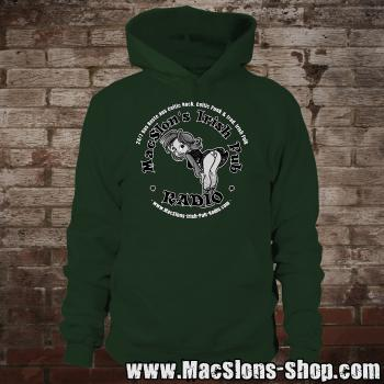 "MacSlon's ""Irish Girl Logo"" Hoodie (green)"